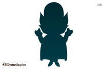 Halloween Dracula Silhouette Drawing