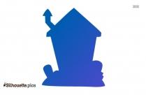 Cartoon Halloween Haunted House Illustration Silhouette