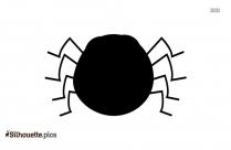 Cartoon Halloween Spider Silhouette