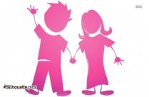 Cartoon Happy Couple Cartoon Silhouette