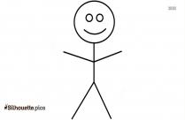 Cartoon Happy Stick Figure Silhouette