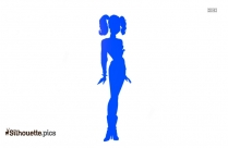 Silhouette Of Harley Quinn With Bat