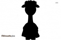 Cartoon Hawaiian Giraffe Silhouette Image
