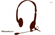 Headphones Silhouette Icon
