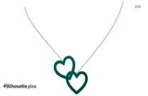 Heart Necklace Silhouette Picture