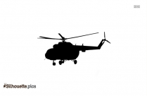 Cartoon Helicopter Silhouette Free Vector Art