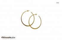 Hoop Earrings Silhouette Free Vector Art Image