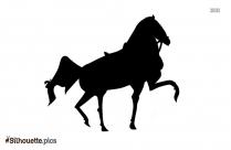 Cartoon Horse Galloping Silhouette