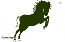 Cartoon Horse Silhouette Illustration