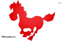 Cartoon Horse Running Vector Silhouette