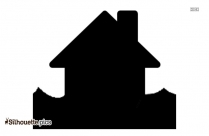 Cartoon House Silhouette