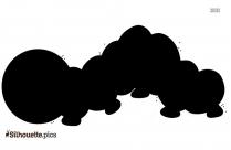 Cartoon Inchworm Silhouette Vector