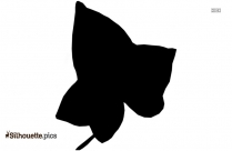 Cartoon Ivy Leave Silhouette Drawing