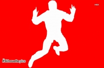 Jumping Girl Silhouette Clipart