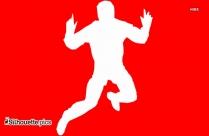 Cartoon Jumping Man Silhouette