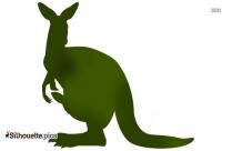 Cartoon Kangaroo Clip Art Vector Silhouette