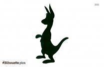 Cartoon Kangaroo Drawing Silhouette
