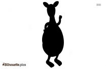 Cartoon Kangaroo Drawing Silhouette Image And Vector