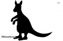 Cartoon Kangaroo Silhouette Drawing