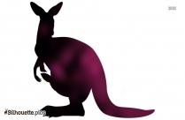 Cartoon Kangaroo Silhouette Image