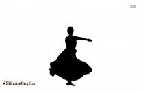 Cartoon Kathak Dance Silhouette