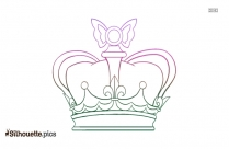 Cartoon King Crown Outline Silhouette