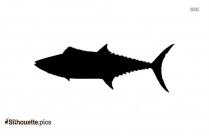 King Mackerel Fish Silhouette
