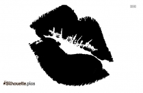 Cartoon Kissing Lips Logo Silhouette For Download