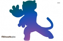 Chasing Scooby Doo Silhouette