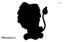 Cartoon Lion Silhouette Drawing, Vector Art
