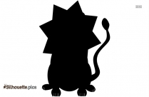 Cartoon Golden Lion Silhouette Picture