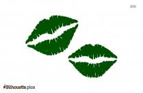 Cartoon Lips Silhouette Background