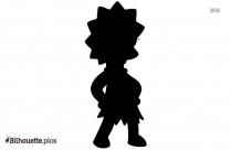 Cartoon Lisa Simpson Silhouette