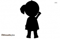 Cartoon Little Girl Silhouette Drawing