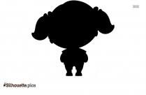 Little Girl Cute Vector Silhouette Illustration