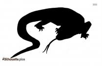 Cartoon Lizard Drawing Silhouette