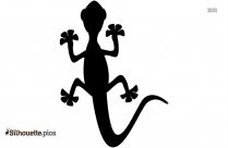 Cartoon Lizard Silhouette, Free Vector Art