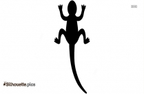 Cartoon Lizard Silhouette Vector Illustration