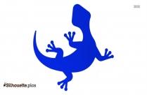 Cartoon Lizard Silhouette Drawing