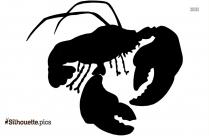 Cartoon Lobster Silhouette Vector