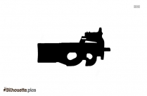 Machine Gun Silhouette Image Vector