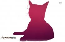 Cat Grooming Silhouette