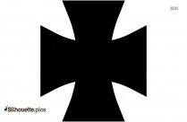 Cross Necklace Clipart || Cross Pendant Silhouette