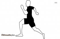 Cartoon Man Running Silhouette