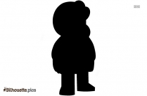Man Walking Cartoon Silhouette