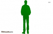 Cartoon Man Standing Silhouette Background