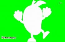 Cartoon Mango Silhouette Image