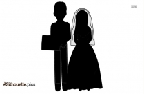 Cartoon Married Couple Silhouette