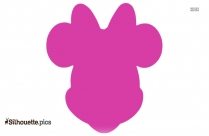 Minnie Face Silhouette Image