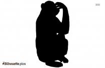 Cartoon Monkey Silhouette Illustration